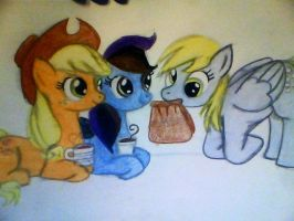 look at all them little ponies sippin lipton tea by mistresscarrie