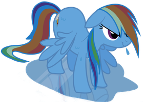 Wet Rainbow dash Complete by Jaelachan