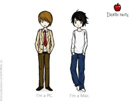 death note: MAC VS. PC by mogupom
