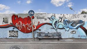graffiti wall by kpucu