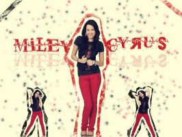 Miley Cyrus Wallpaper by Caitie14