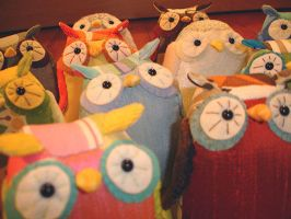 army of owls by sewingstars