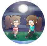 .:Collab:. Night Gazing by Dreamilicious
