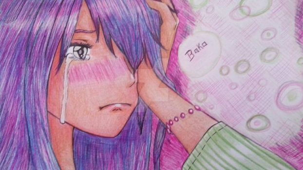 Cute girl crying by DGuito
