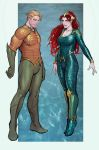 aquaman+mera color technique test by nebezial