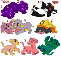 Lion cub adoptables 2 by SyvaTheWolf123