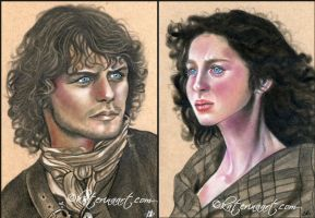 Outlander sketch portraits by Katerina-Art