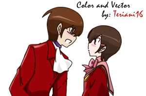 TWGOK-Keima and Chihiro Colors by teriani16