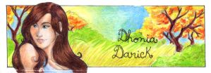 Bookmark - Dhonia Darick by Madda-Sketches