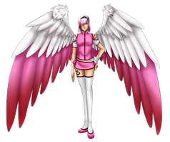 Winged Angel -Pink Edition- [Commission/Custom] by popolis