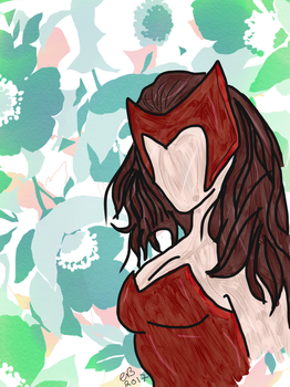 Scarlet Witch by asgardsthunder