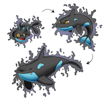 Water Fakemon Starter by SuperHeroPattyFatty