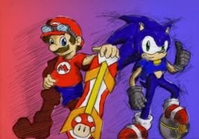 Mario Riders, Sonic Strikers by ImotepNicholas