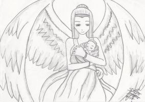 baby and angel finished by ShelandryStudio
