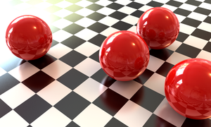 Spheres on Checkerboard by binaryriot