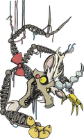 My Little Pony Discord Mangle Animatronic by kaizerin