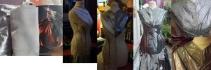 King Thranduil silver jacket progress by Elfsire
