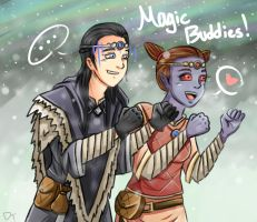 Skyrim: Magic Buddies by LuciferianRising
