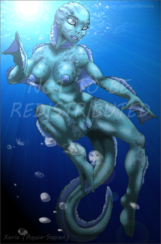 Xeria, the Aquia-Sapien by Benezia