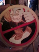 Ghost Nappa coaster by cutiechibi