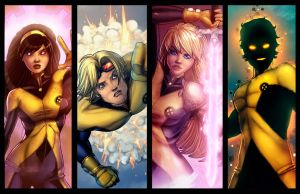 New Mutants Lineup 1 by JamieFayX