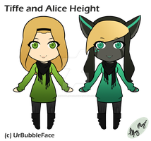 Tiffe and Alice Height by UrBubbleFace