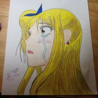 Crying Lucy Heartfilia by pikagirl28271