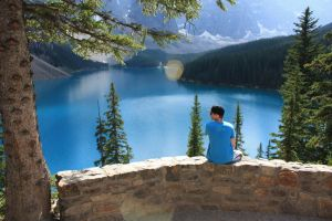 Me at Moraine Lake by nalhcal