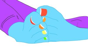 (Request) Rainbowdash colored nails by vitorbrony