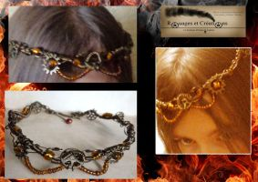 Steampunk Crown Fire Earth by Rouages-et-Creations