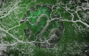 HP Wallpaper : Slytherin Lightning by TheLadyAvatar