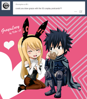 Card [Gray x Lucy] by Kiko-x3