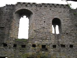 Stock: Castle Wall and Windows II by legendpendragon9