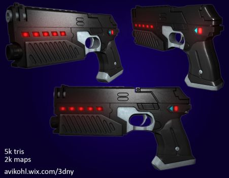 Lawgiver '95 game asset by AviKohl