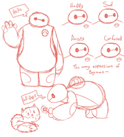 Baymax Doodles by Poulterghiest