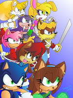 Battle Ready Fighters! (Colored Version) by Sonar15
