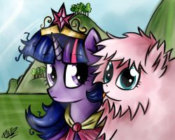 Twilight and Fluffle Puff by B---K