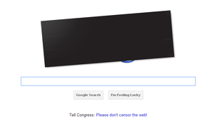 Google SOPA, PIPA Black Out by Dead-Genre-Revival