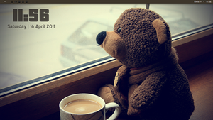 Brown Sad Teddy Desktop by D-e-s-i-g-n