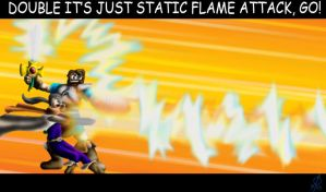 It's Just Static Flame by cheddarpaladin
