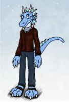 Vynson the Ice Dragon by hunterbahamut