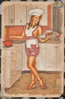 Pinups - Cooking for Victory by warbirdphotographer