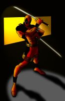 Deadpool with blades by Deathring2000