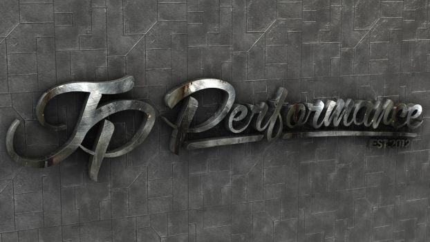 JP Performance - Industrial Logo by Dracu-Teufel666