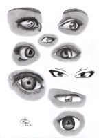 Eye Study by JJCheddar77