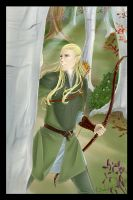 Legolas inthe Woods-Commission by TerraForever