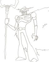 Skeleton King uncolored by Camtheshifter
