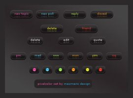 Pixel Color Set by MesmericDesign