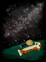 Calvin and Hobbes Star Gazing Buddies by Pro-Shower-Singer