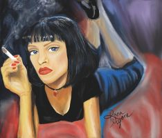 Pulp Fiction caricature by RiknaMyoneArt